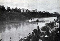 Il Gennariello ammara a Roma sul Tevere.