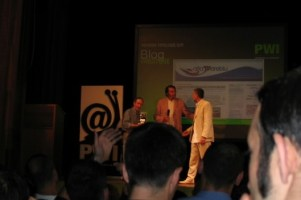 Tito Mancini ritira il premio PWI 2009