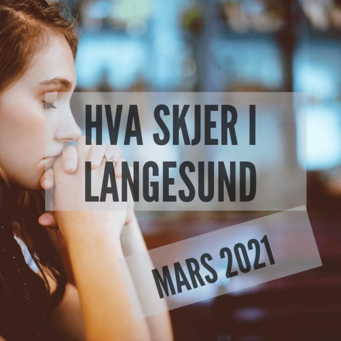 Hva skjer i Langesund mars 2021