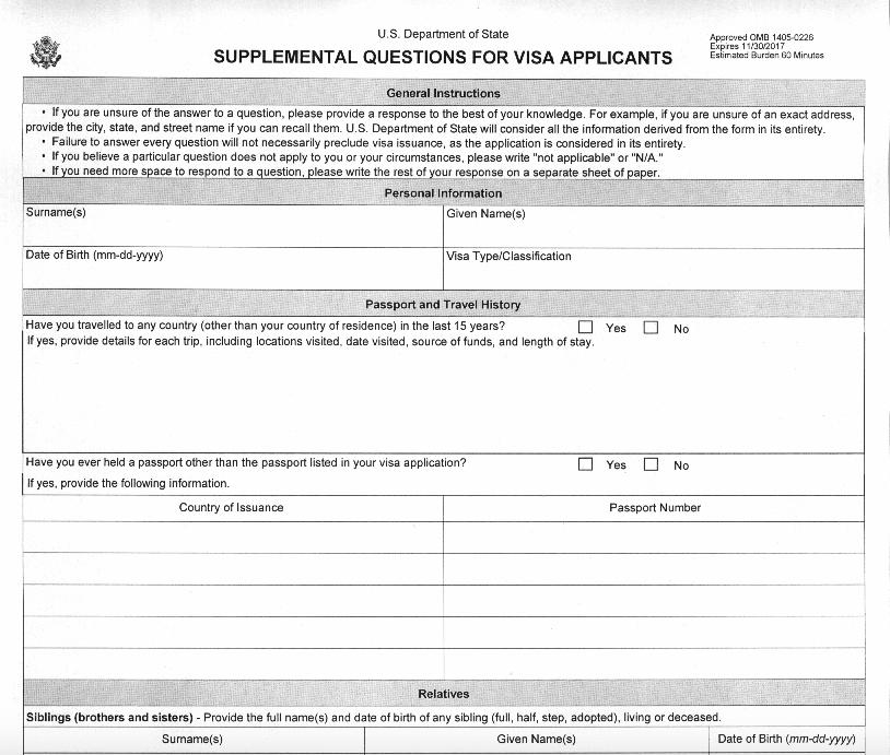 solicitud visa estados unidos