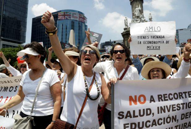 AMLO y las protestas