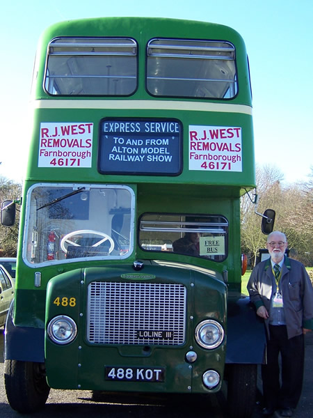 The Vintage Bus service running visitors to and from the exhibition