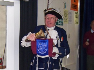 The Alton Town Cryer opens the exhibition