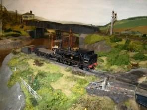 A loco waits outside Penhallick