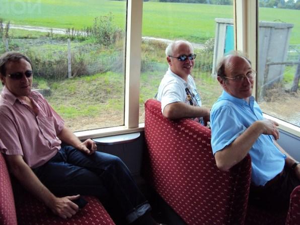 Steve, Graham and John inside the Observation car