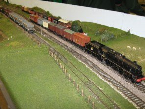 A train departs on Soberton