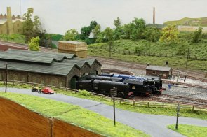 The steam engine sheds on 'Nine Mills'
