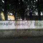 Scritta sul muro di una Scuola ad Altopascio