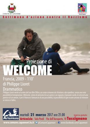 La locandina dell'appuntamento con la proiezione del film Welcome