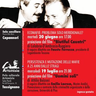 'Non solo ricordare': due occasioni per riflettere e confrontarsi sul tema della mafia