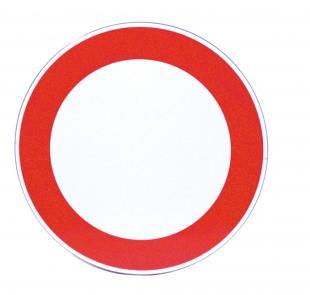 Un segnale di divieto di transito