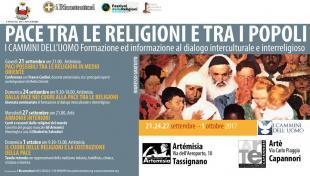 """'I cammini dell'uomo': ad Artémisia la tavola rotonda  """"Il cuore delle religioni e la costruzione della pace'"""