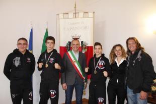 I due campioncini ricevuti dal sindaco Menesini e dall'assessore Frediani