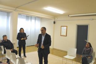 L'intervento del sindaco Luca Menesini durante l'incontro