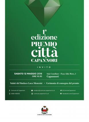 Cerimonia Premio città di Capannori - invito