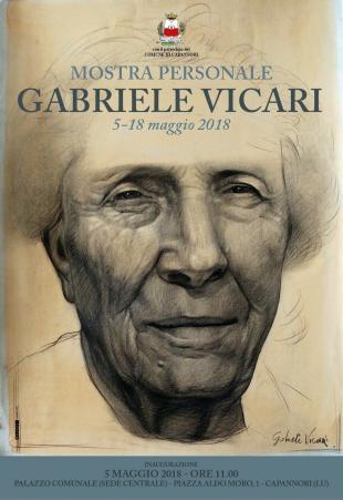 Taglio del nastro per la mostra personale di Gabriele Vicari