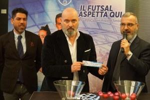 Coppa Italia calcio a cinque, Bonaccini, Manghi e atleti _ 6 marzo 2019
