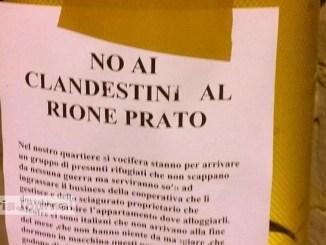 CasaPound, clandestini Rione Prato, proprietario prende 900 euro mese