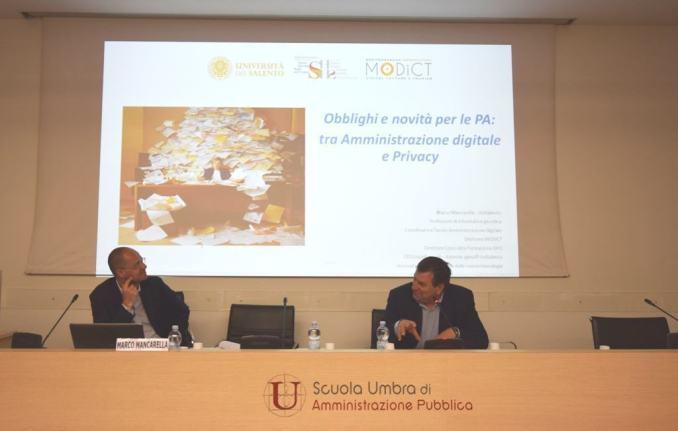 """seminario """"Obblighi e novità per le P.A.: tra amministrazione digitale e privacy"""""""