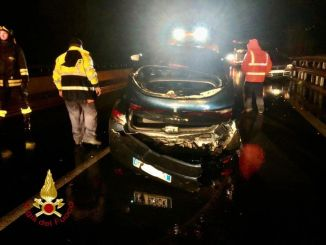 Incidente su E45 a Città di Castello sud, tre feriti, anche una bimba di 4 anni