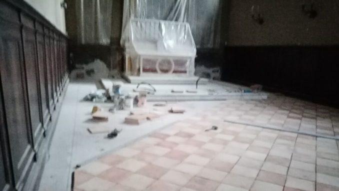 Città di Castello, restauro della cappella della Madonna delle Grazie. I lavori sono stati avviati nello scorso mese di settembre