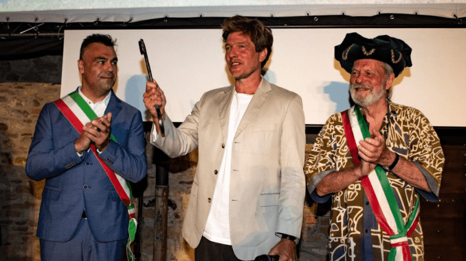 Umbria Film Festival ricevute da Thomas Vinterberg chiavi Città Montone