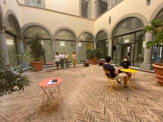 Aperto alla consultazione e lettura dei quotidiani il chiostro di Palazzo Vitelli