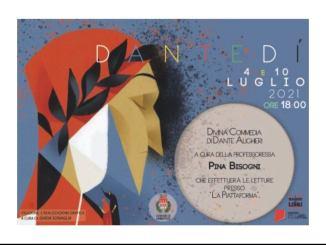 Umbertide, il 4 e 10 luglio alla Piattaforma si celebra Dante con delle letture