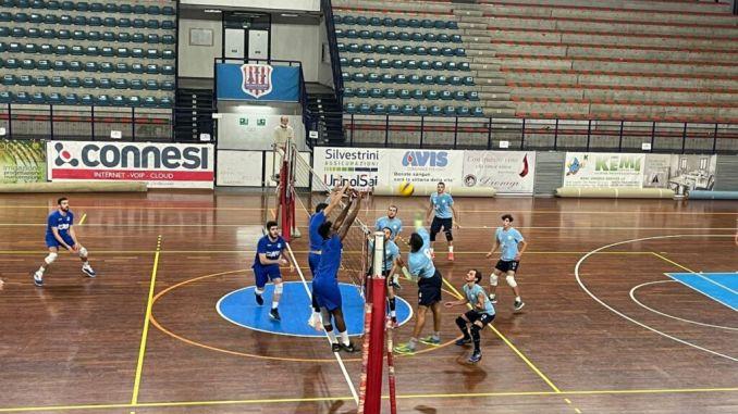 A Foligno allenamento congiunto della ErmGroup San Giustino contro la Italchimici, avversaria nel girone F della Serie B maschile
