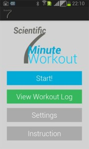 Scientific 7 Minute Workout App by App