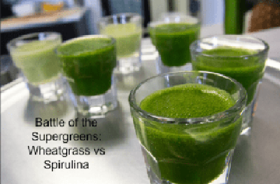 Battle of the Supergreens Wheatgrass vs Spirulina