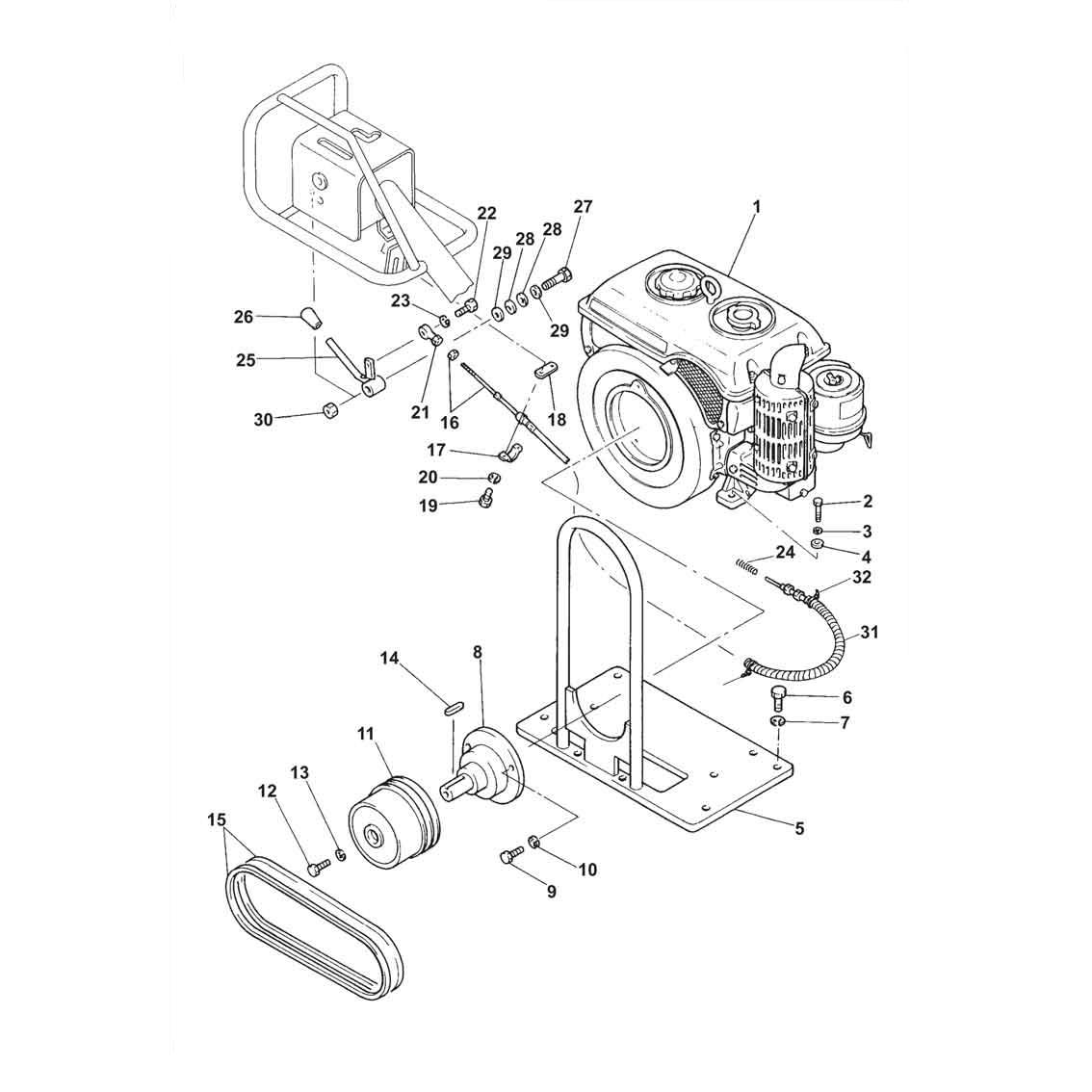 Belle Bwr650 Ea300 Roller Engine Belle Roller Parts