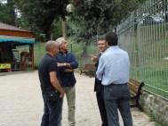 """Mr.Altravita, Giorgio und Cristiano Sandri, Riccardo Bertolin im """"Parco Gabriele Sandri"""""""