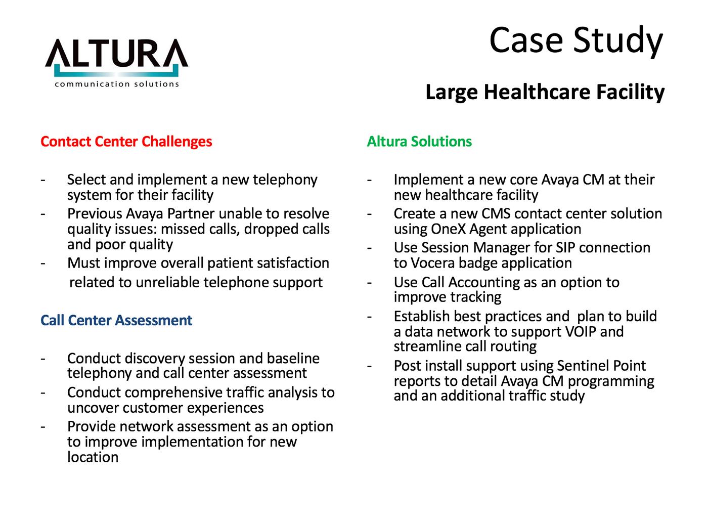 Call Center Assessment Offers