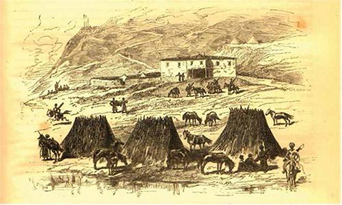 Erzurum Horasan'da bir Çerkes Muhacir kampı