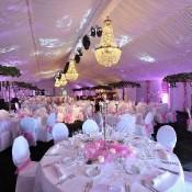 lamparas de araña boda cena de gala