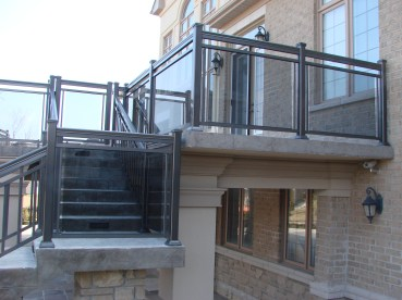 outdoor porch railings in toronto and gta