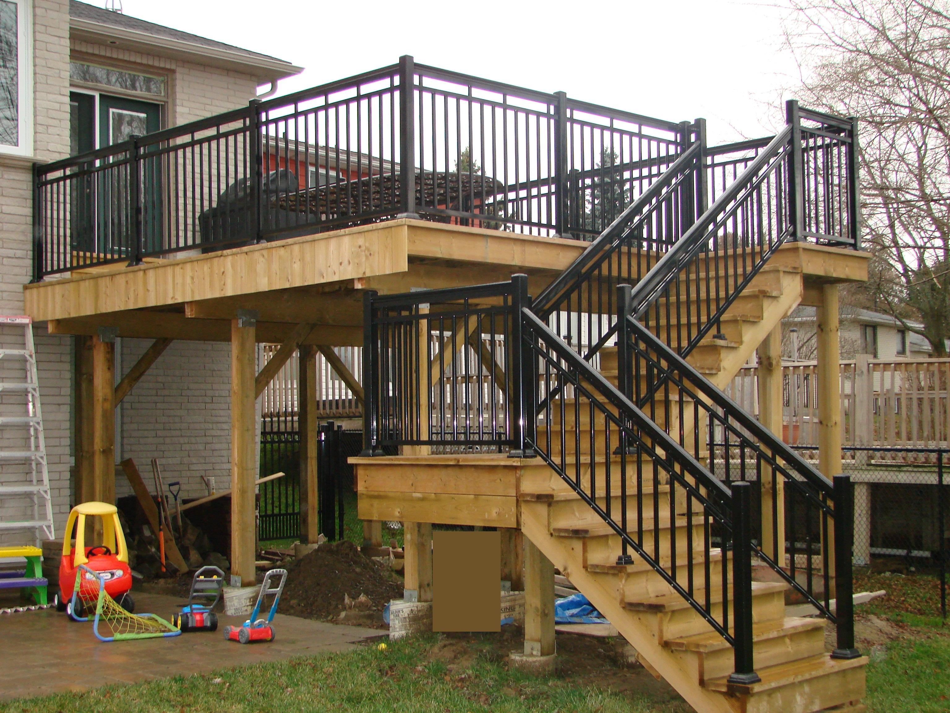 Aluminum deck railings toronto gta railings aluminum deck railings toronto baanklon Images