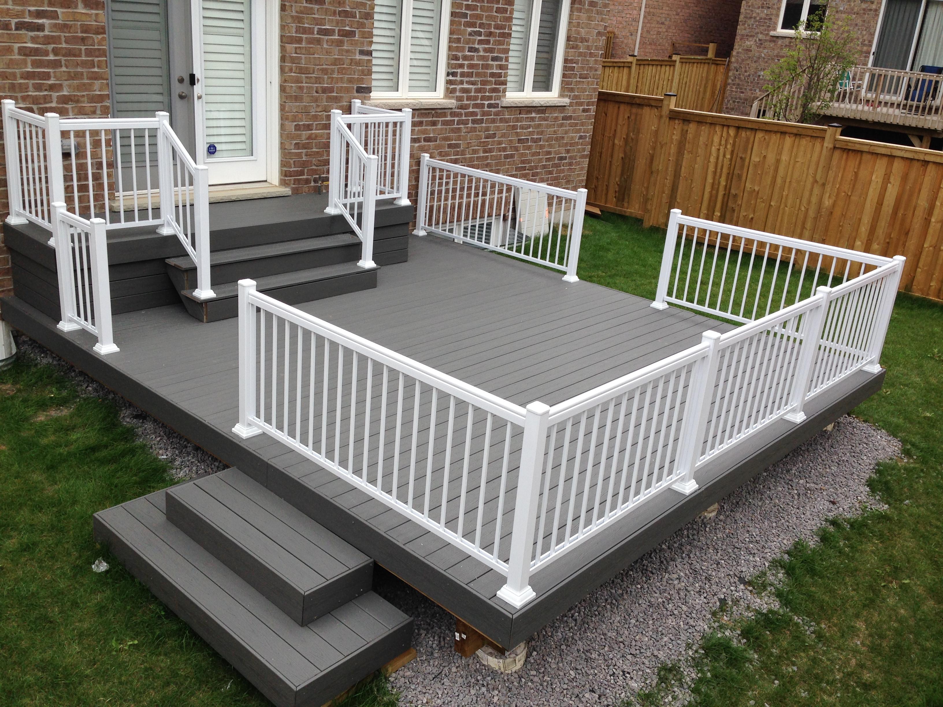 aluminum-white-railing-deck-scarborough - GTA RAILINGS