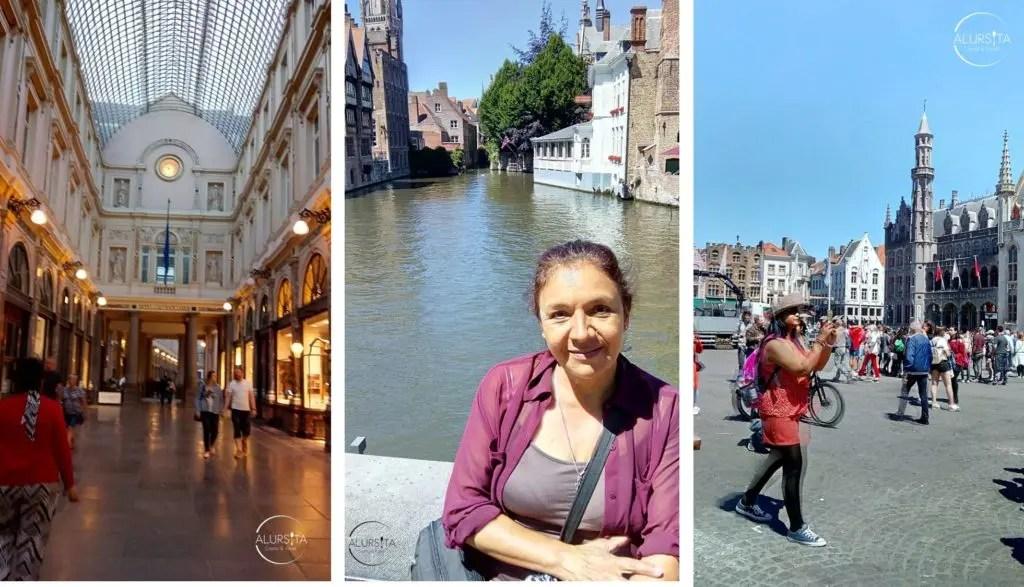 Mujer de tercera edad viajando