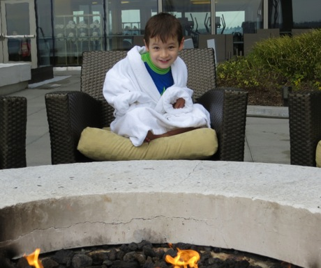 Child Size Bathrobe - Four Seasons Seattle by Fire Pit