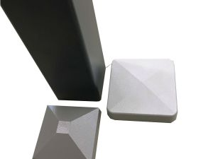 Aluminium Zaunsäule mit Säulenkappe