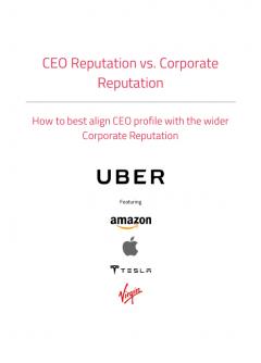 CEO Reputation vs. Corporate Reputation