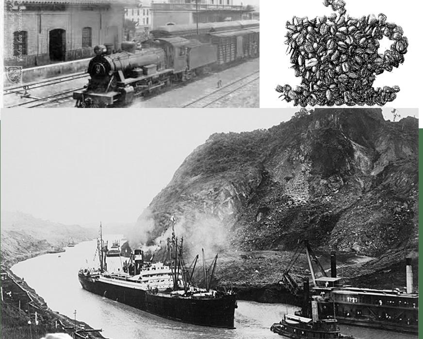 El canal de Panamá con aroma de café