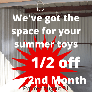 1/2 off second month Affordable Storage, Alvin, TX