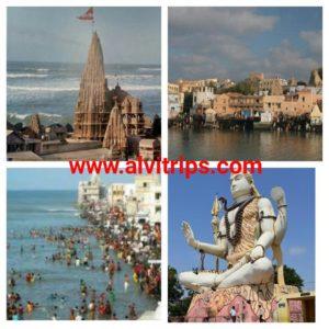 द्वारकाधीश मंदिर और द्वारका के सुंदर दृश्य