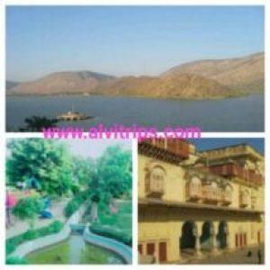 अलवर के पर्यटन स्थल के सुंदर दृश्य