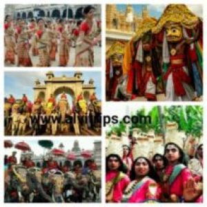 कर्नाटक के त्योहार के सुंदर दृश्य
