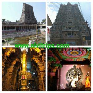 मीनाक्षी मंदिर के सुंदर दृश्य