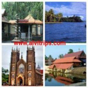 अलेप्पी पर्यटन स्थलों के सुंदर दृश्य